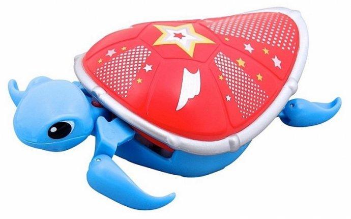 Интерактивная игрушка Moose Черепашка S3, голубая с красным