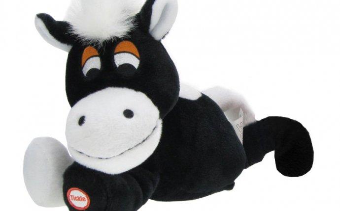Интерактивная игрушка Смеющаяся лошадка, чёрная WOT14954 Woody O