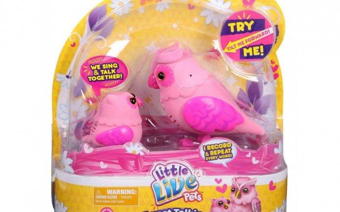 Интерактивные птички Сова с совёнком Little Live Pets Розовые pink