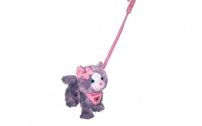 Кошка Пушистые Друзья на поводке муз. Интернет-магазин игрушек