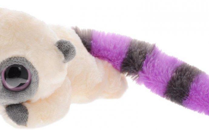 Мягкая игрушка Юху и его друзья - Юху, фиолетовый, лежачий, 16 см