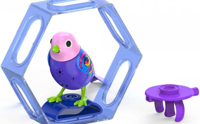 Птичка Фиалка DigiBirds с клеткой - купить интерактивные игрушки