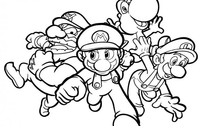 Раскраска марио для детей - Раскраска Марио для детей - Марио